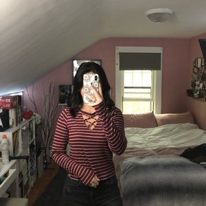 Striped Hollister T-Shirt Long Sleeve